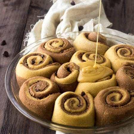 Chocolate Peanut Butter Swirled Cinnamon Buns - Foodfaithfitness.com