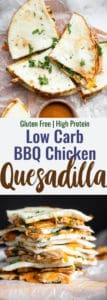 low carb healthy quesadillas collage image