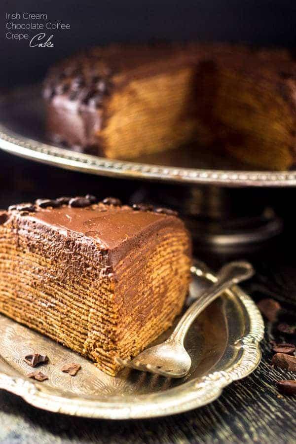 Top 14 Recipes of 2014 - Baileys Chocolate Coffee Crepe Cake | Foodfaithfitness.com | #recipe