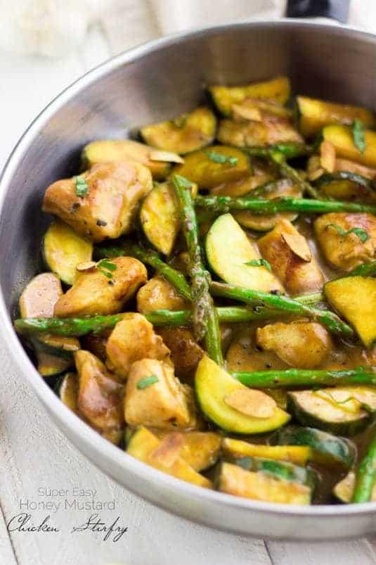 Top 14 Recipes of 2014 - Honey Mustard Chicken Stir Fry | Foodfaithfitness.com | #recipe