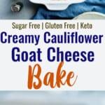 cauliflower bake collage photo