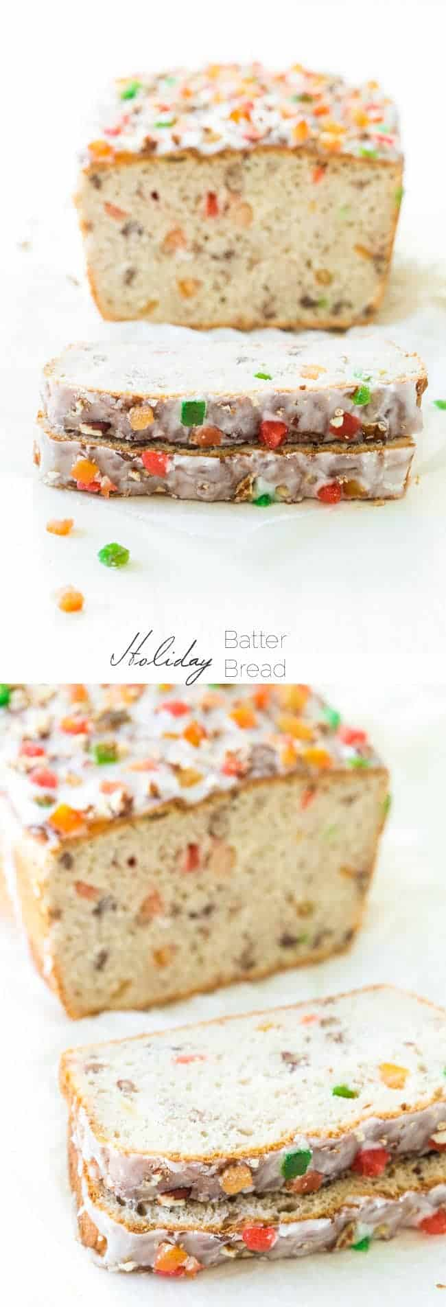 Holiday Batter Bread - An, easy, no-knead bread that is SO pretty and perfect for Christmas! | Foodfaithfitness.com |#recipe