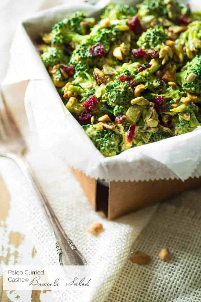 Paleo Curried Broccoli Salad | Foodfaithfitness.com | @FoodFaithFit