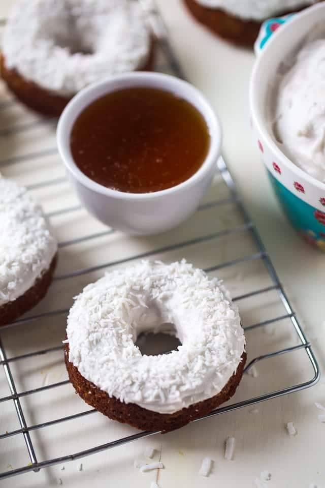 Gluten Free Baked Carrot Cake Donuts