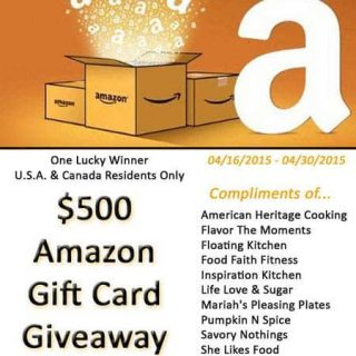 $500 Amazon Gift Card Giveaway! | Foodfaithfitness.com | @FoodFaithFit