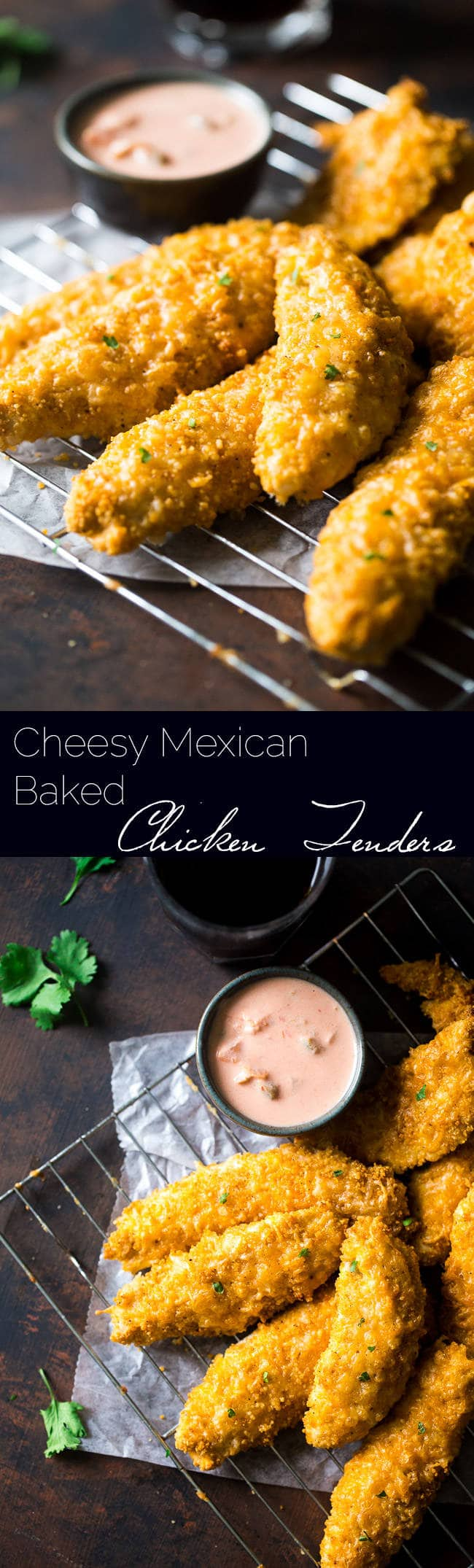 Cheesy Mexican Baked Chicken Tenders with Couscous Crust - It only takes 5 ingredients to make this super easy, healthy meal that the whole family will love! | Foodfaithfitness.com | @Foodfaithfit