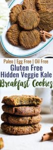 Hidden Veggie Paleo Breakfast Cookies -These Paleo Breakfast Cookiesare made in the food processor for a quick, easy and healthy breakfast! Gluten/grain/dairy/egg free, vegan friendly and DELICIOUS! Even picky kiddos won't taste the hidden veggies! | #Foodfaithfitness | #Glutenfree #Paleo #Vegan #Dairyfree #EggFree