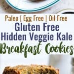 Hidden Veggie Paleo Breakfast Cookies - These Paleo Breakfast Cookies are made in the food processor for a quick, easy and healthy breakfast!  Gluten/grain/dairy/egg free, vegan friendly and DELICIOUS! Even picky kiddos won't taste the hidden veggies! | #Foodfaithfitness | #Glutenfree #Paleo #Vegan #Dairyfree #EggFree