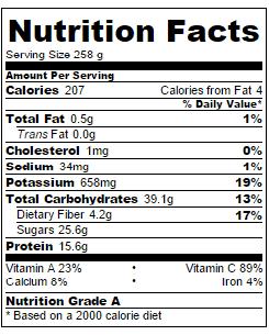 Orange-smoothie-nutrition-information