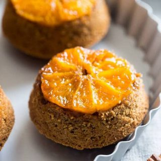 Upside Down Citrus Gluten Free Muffins - These vegan muffins are made with coconut sugar, grapefruit and oranges! They're a healthy breakfast or snack for busy mornings that are only 200 calories! | Foodfaithfitness.com | @FoodFaithFit