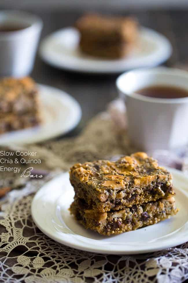Top 10 Healthy Recipes - Slow Cooker Quinoa Energy Bars | Foodfaithfitness.com | @FoodFaithFit