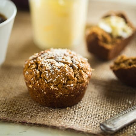 Vegan Vanilla Chai Protein Muffins on Food Faith Fitness - A healthy, gluten free breakfast or snack!