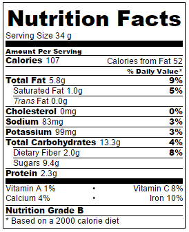 vegan-brownies-nutritonal-information