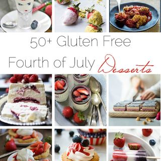 50+ Gluten Free Fourth of July Dessert Recipes - A collection of 50+ healthier, gluten free dessert recipes that are perfect for the 4th of July! | Foodfaithfitness.com | @FoodFaithFit