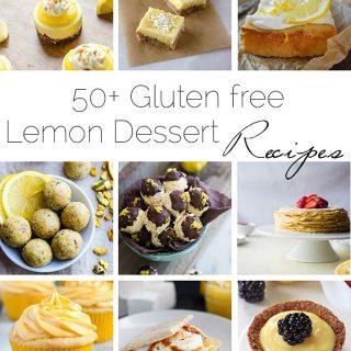 50+ Gluten Free Lemon Desserts - A roundup of 50+ healthier, gluten free lemon desserts to get your sweet and sour fix this summer! | Foodfaithfitness.com | @FoodFaithFit