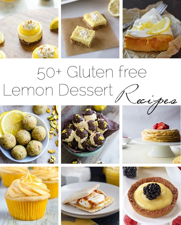 50+ Gluten Free Lemon Desserts - A roundup of 50+ healthier, gluten free lemon desserts to get your sweet and sour fix this summer! | Foodfaithfitness.com | @FoodFaithFit