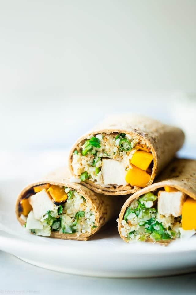 Grilled Mango Chicken Cauliflower Rice Wrap