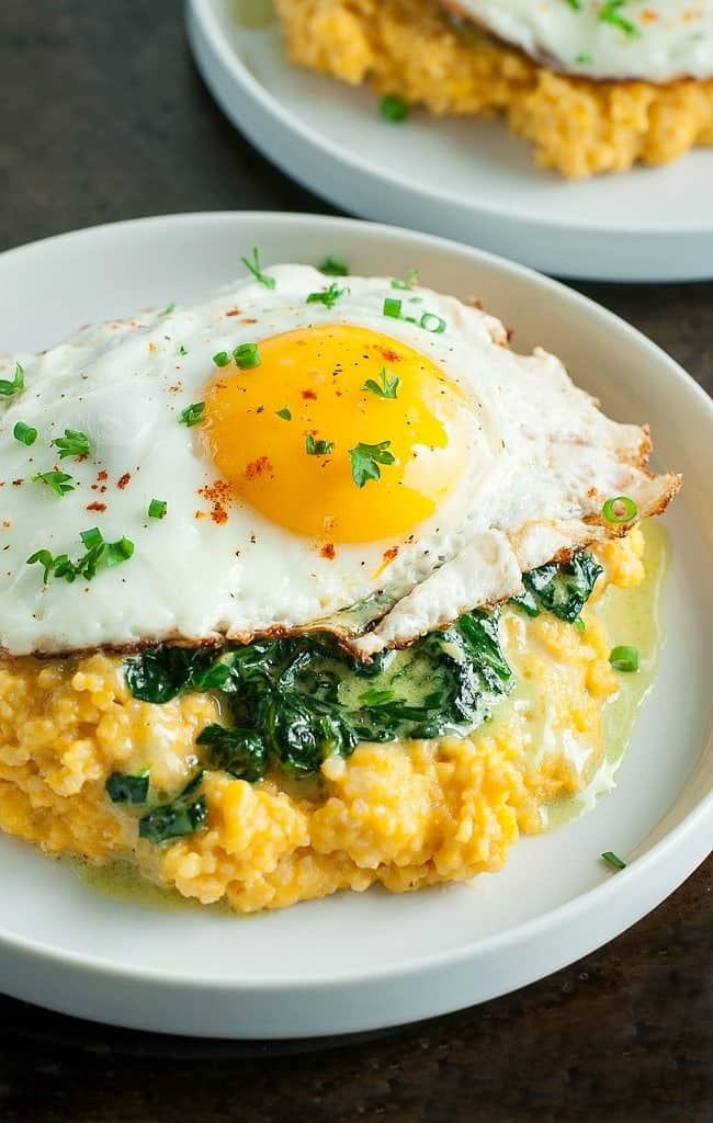 cheddar-pumpkin-grits-creamy-spinach-fried-egg-recipe-1862xsx