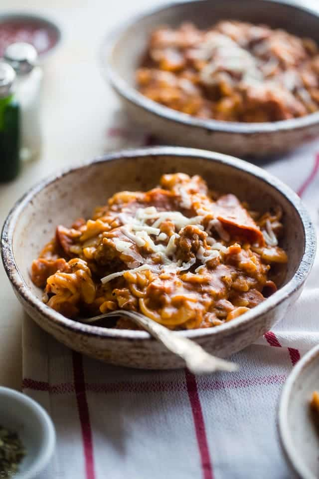 Pizza Crock Pot Pasta