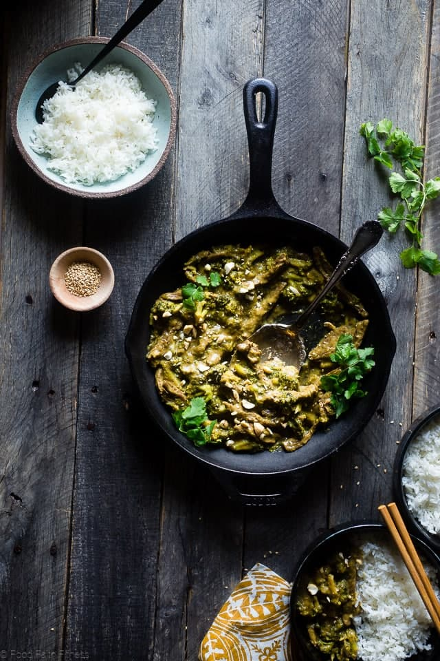 Curry Beef and Broccoli with Cashew Butter