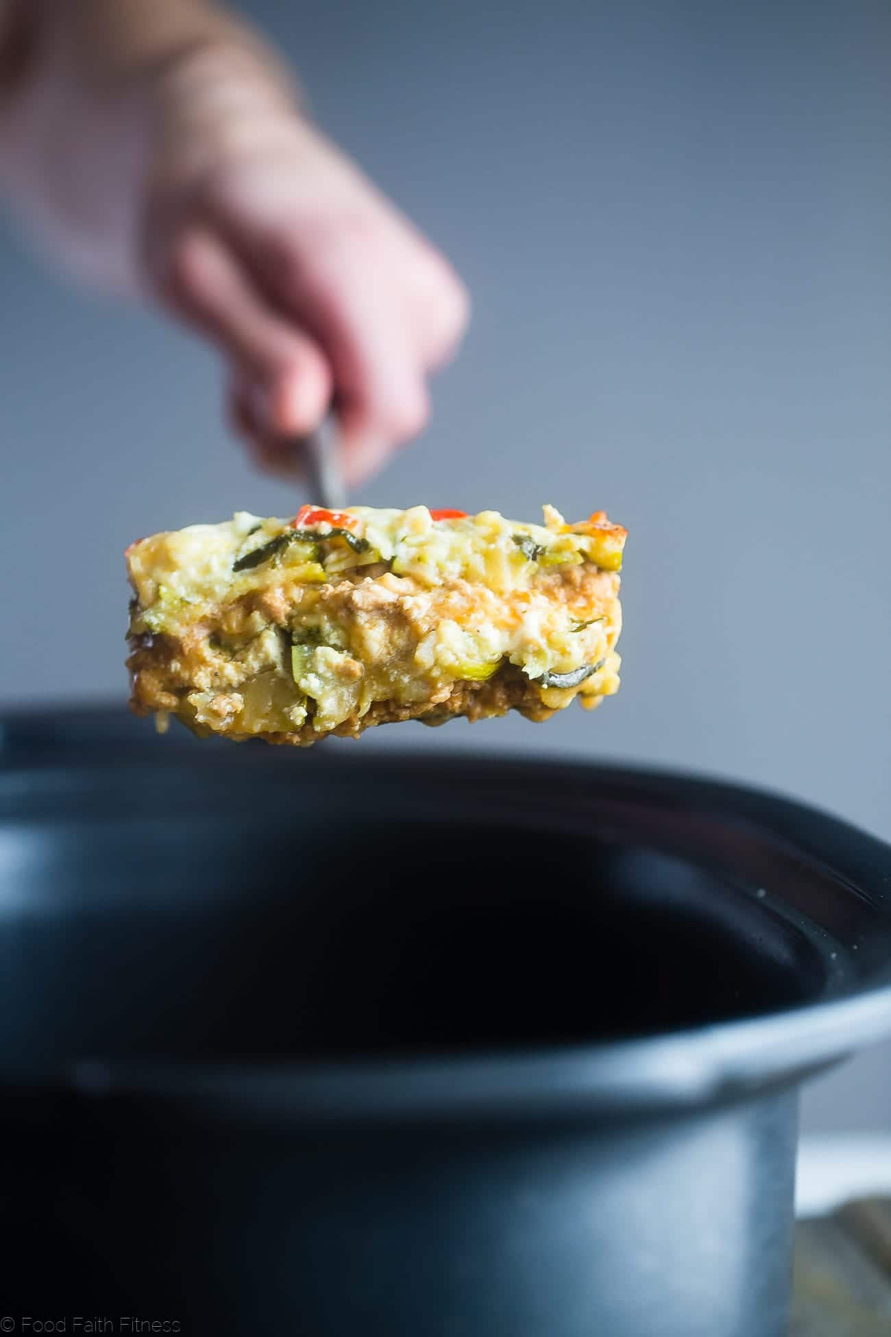 Thai Slow Cooker Zucchini Lasagna - This freezer-friendly zucchini lasagna is made in the slow cooker, and has a Thai peanut twist! It's a healthy, low carb and gluten free weeknight meal that the family will love! | Foodfaithfitness.com | @FoodFaithFit