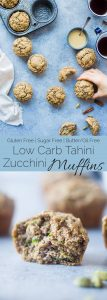 Low Carb Zucchini Tahini Muffins - These low carb muffins use zucchini and tahini to make them so moist and fluffy! They're a healthy, dairy, gluten and sugar free breakfast or snack for spring! | Foodfaithfitness.com | @FoodFaithFit
