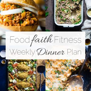 Food Faith Fitness Weekly Dinner Plan Week 1 - A week of healthy recipes all in one place, complete with a printable shopping list and nutrition information! | FoodFaithFitness.com | @FoodFaithFit
