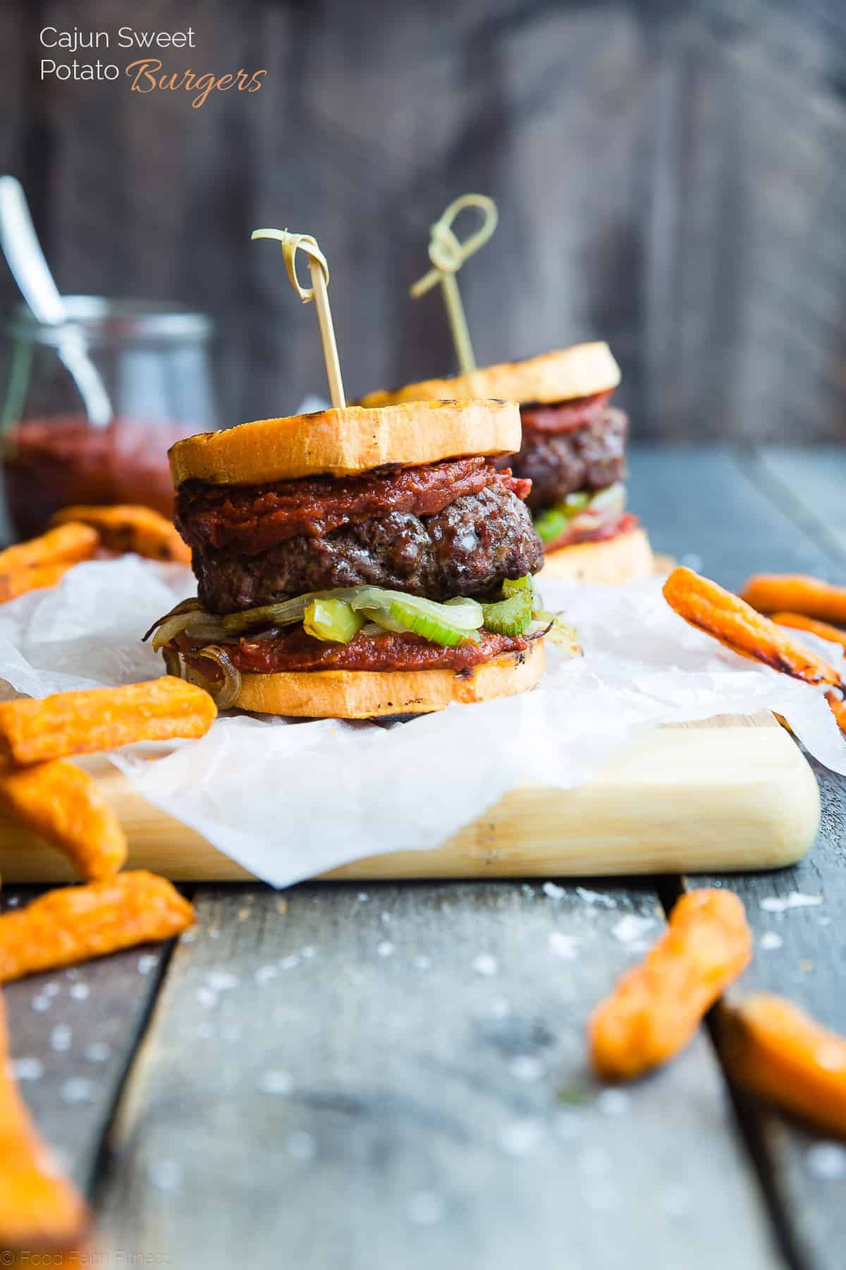 side view close up of Potato hamburger buns