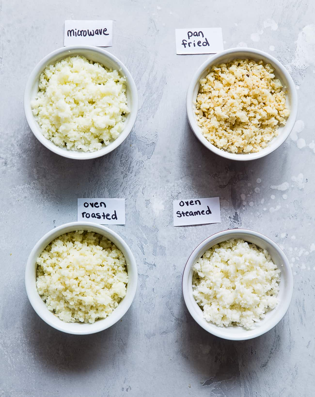 4 Easy Ways to Cook Cauliflower Rice - Ever wondered how to cook cauliflower rice without a microwave? Here are 4 simple and healthy ways to cook cauliflower rice! | #Foodfaithfitness | #Glutenfree #Keto #Lowcarb #healthy #cauliflower