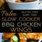Slow Cooker BBQ Chicken Wings -Let the slow cooker do the work for you with these easy paleo-friendly chicken wings! A healthy, gluten, grain and dairy free, crowd pleasing appetizer for game day! | Foodfaithfitness.com | @FoodFaithFit