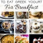 12 Healthy, Gluten Free Breakfasts with Greek Yogurt - Looking to start your day with some protein? Then you will love all 12 of these easy, healthy and kid-friendly breakfast recipes! | Foodfaithfitness.com | @FoodFaithFit