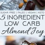 Low Carb Almond Joy Bars -These homemade paleo almond joy bars are a healthy, low carb remake of the classic candy bar that you will never believe are sugar, dairy, grain and gluten free! | Foodfaithfitness.com | @FoodFaithFit