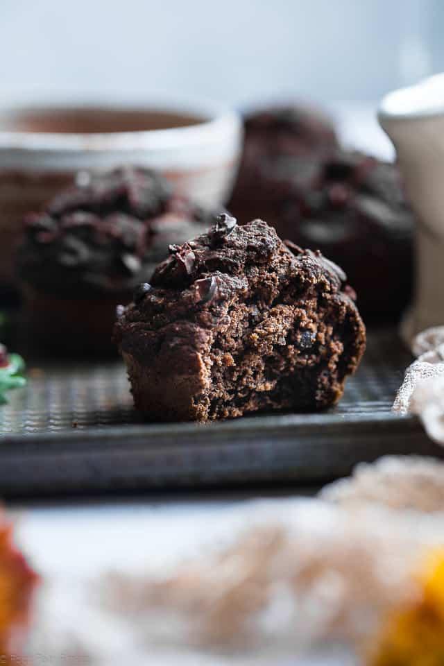 Chocolate Healthy Gluten Free Pumpkin Muffins