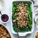 Keto Sauteed Green Beans with Crispy Prosciutto - This easy sautéed fresh green beans recipe comes together in only 15 minutes! It's only 4 ingredients, paleo/vegan friendly and 100 calories! | Foodfaithfitness.com | @FoodFaithFit