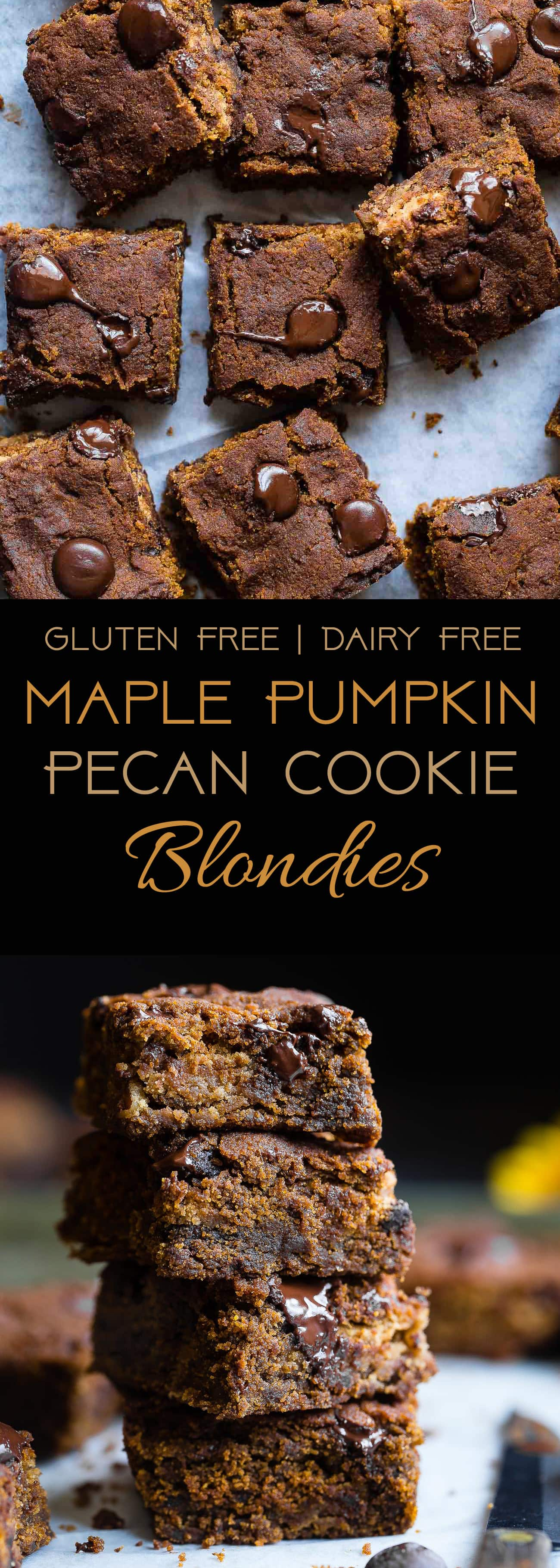 Cookie Stuffed Pumpkin Blondies -Cookies are baked right inside these healthier pumpkin brookies! They're so dense and chewy you'll never know they're gluten and dairy free! | Foodfaithfitness.com | @FoodFaithFit | Gluten Free Pumpkin Blondies. Easy Pumpkin Blondies. Chocolate Chip Pumpkin Blondies. Pumpkin Brownies. Healthy Pumpkin Brownies. Pumpkin Brownies Recipe. Easy Pumpkin Brownies. Pumpkin Brownies from Scratch. Gluten Free Pumpkin Brownies. Flourless Pumpkin Brownies.