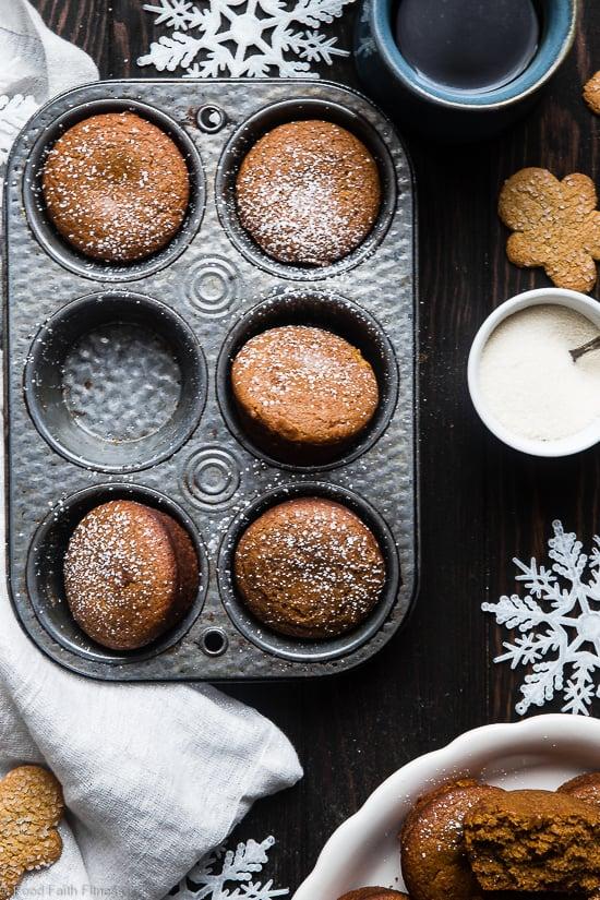 Best Healthy Gluten Free Gingerbread Muffins