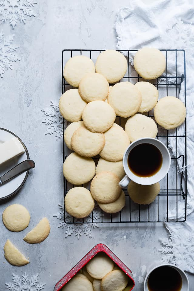 Paleo Whipped Gluten Free Shortbread Cookies