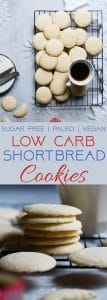 Paleo Whipped Gluten Free Shortbread Cookies - These easy shortbread cookies actually melt in your mouth and are only 60 calories! They're secretly sugar free, healthy and vegan/keto friendly too! | Foodfaithfitness.com | @FoodFaithFit
