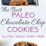 Paleo Chocolate Chip Cookies -These EASYpaleo friendly cookies are buttery, soft, chewy and SO rich and chocolaty! You won't believe they are gluten, grain and refined sugar free! | Foodfaithfitness.com | @FoodFaithFit
