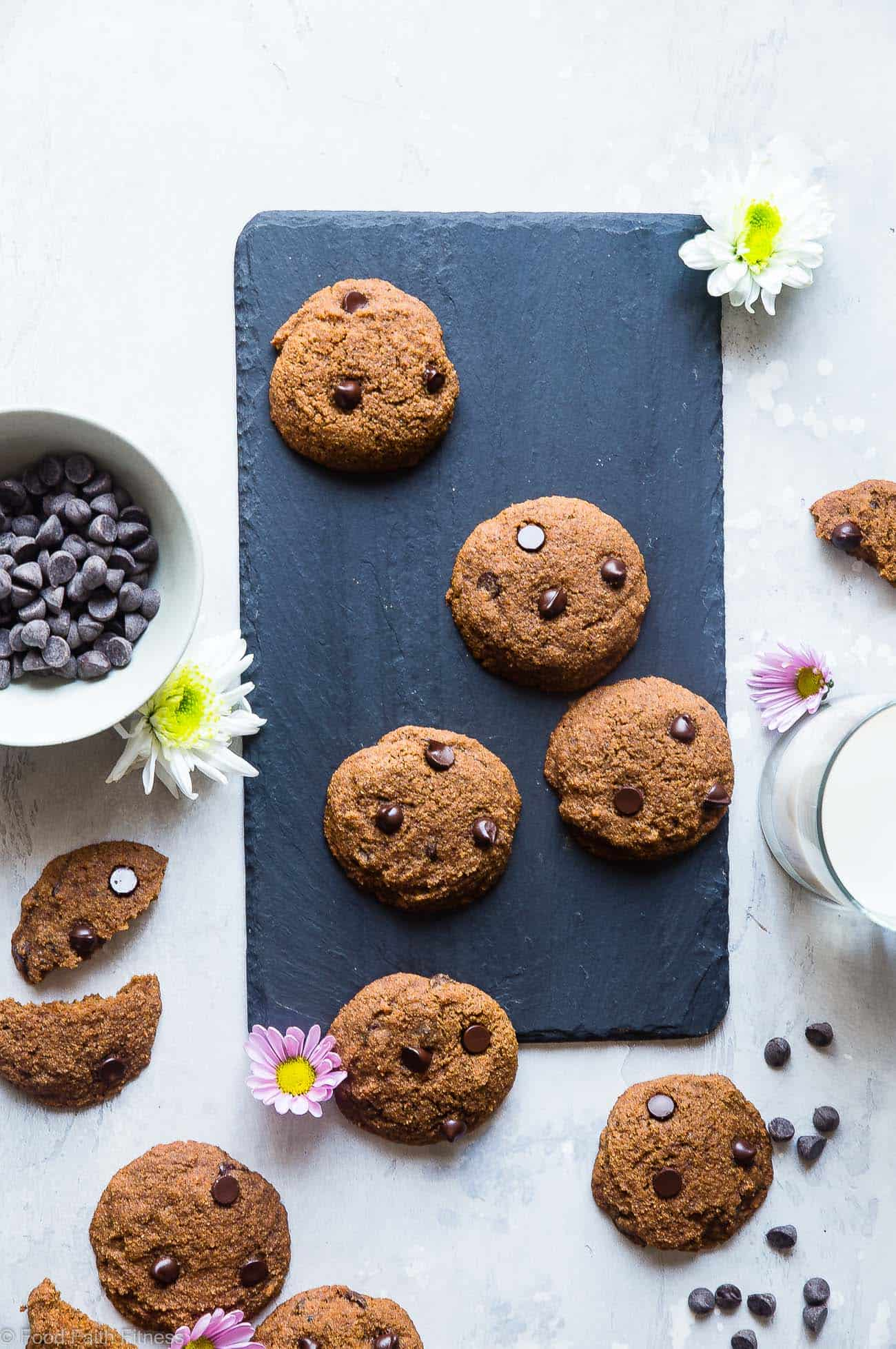 Paleo Coconut Flour Chocolate Chip Cookies - These are the best coconut flour cookies! Paleo friendly cookies with coconut flour are buttery, soft, chewy and SO rich and chocolaty! You won't believe they are gluten, grain and refined sugar free! | Foodfaithfitness.com | @FoodFaithFit