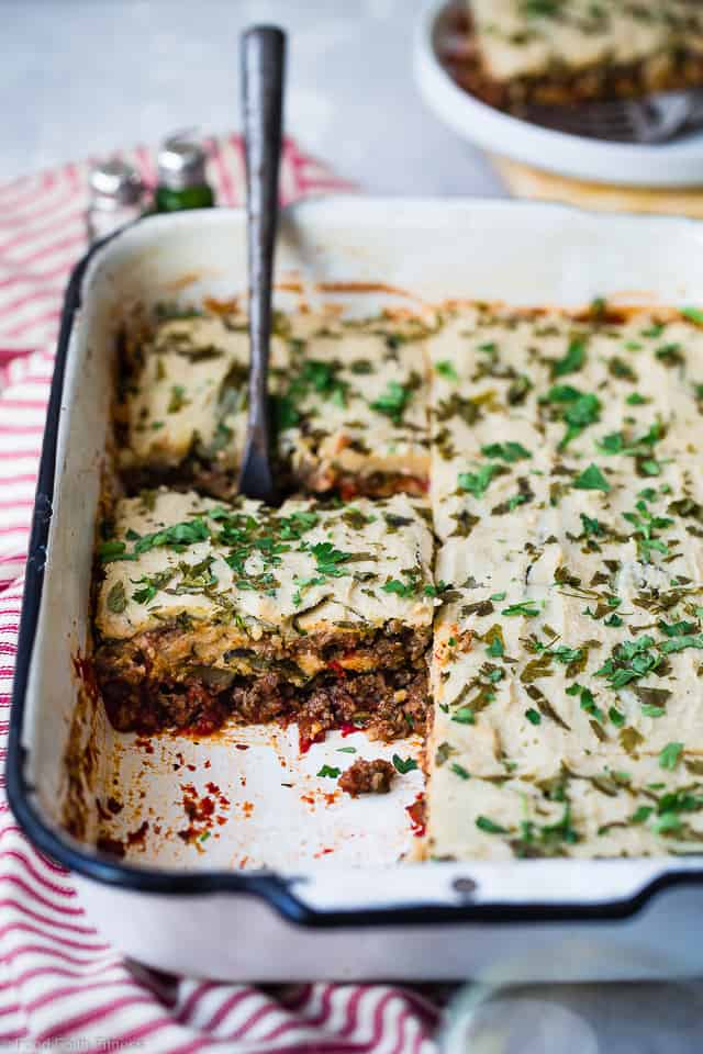 Low Carb Paleo Zucchini Lasagna