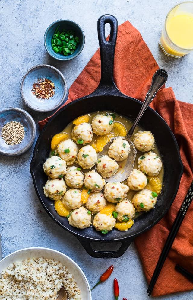 Orange Whole30 Turkey Paleo Meatballs