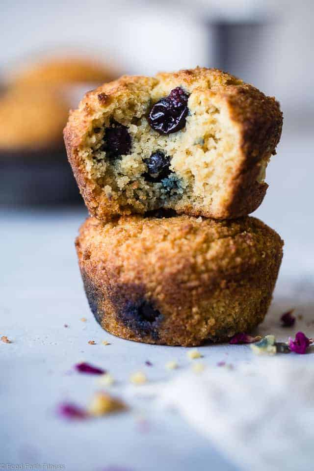 Low Carb Sugar Free Keto Blueberry Muffins with Almond Flour
