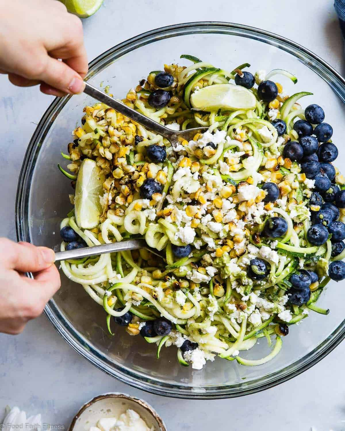 Cold Summer Zucchini Noodle Pasta Salad Food Faith Fitness