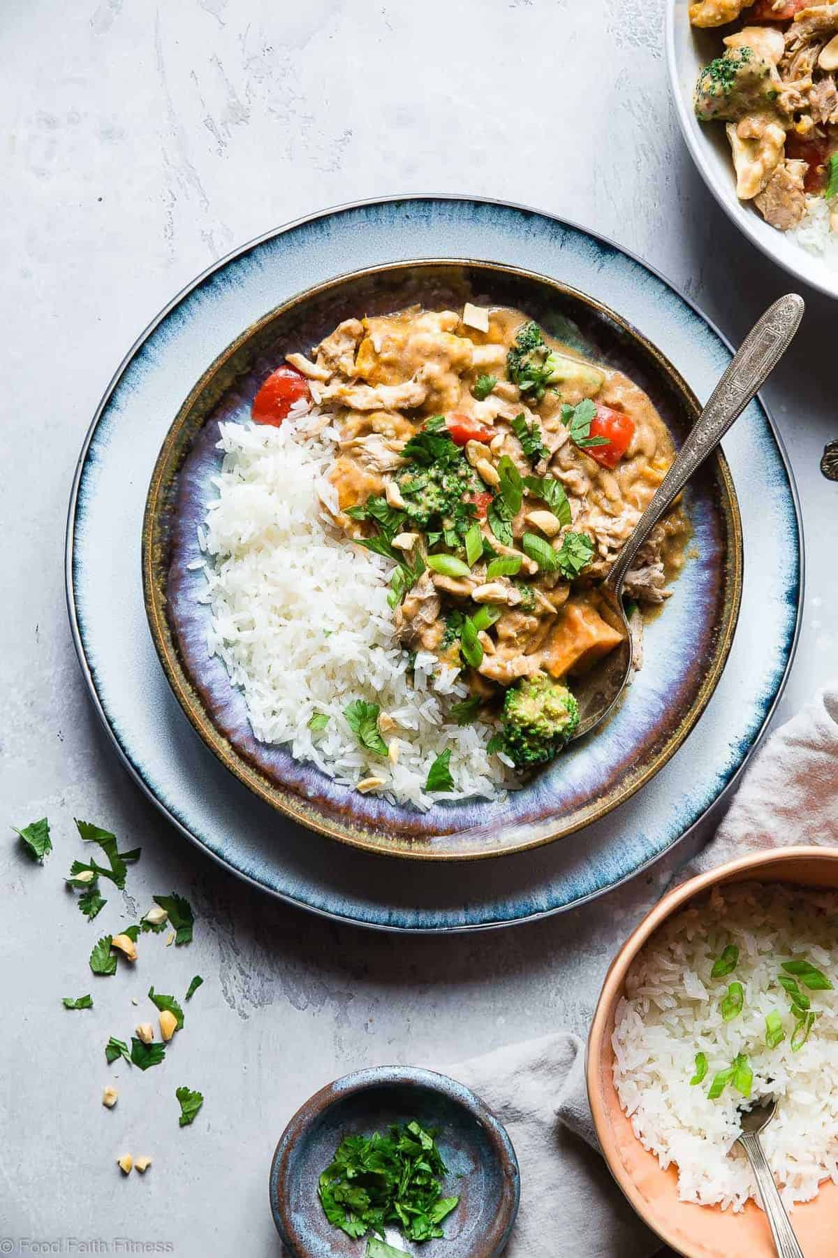 Crockpot Thai Peanut Butter Chicken Curry Food Faith Fitness