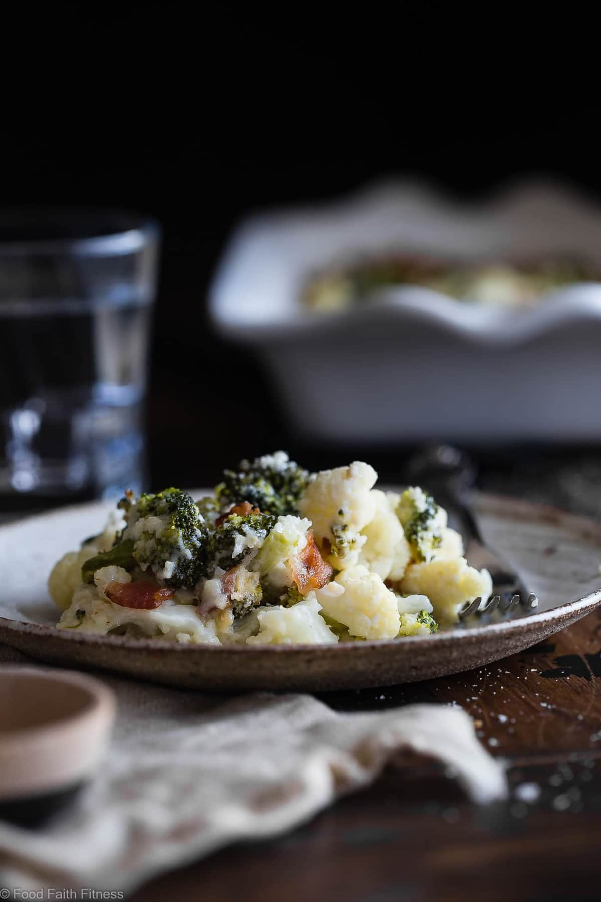 Easy Cheesy Broccoli Loaded Cauliflower Casserole Food