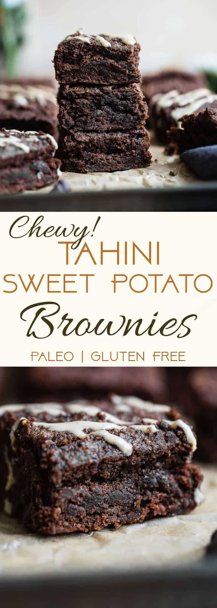 Paleo Sweet Potato Brownies - These healthy brownies areSO dense, chewy and moist! No one will believe they use sweet potato and are gluten/grain/dairy and refined sugar free! | #Foodfaithfitness | #Paleo #Glutenfree #Healthy #Brownies #Grainfree