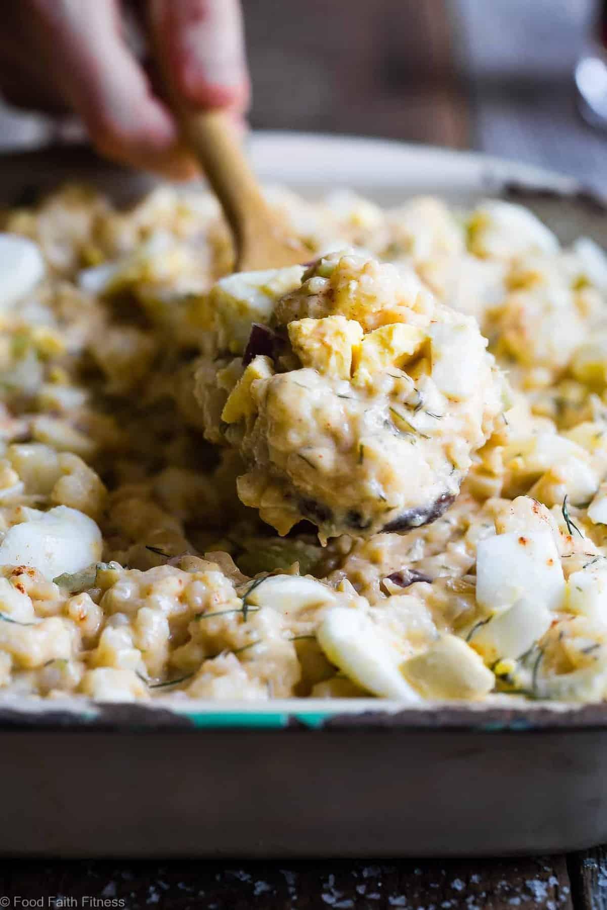 Low Carb Mock Cauliflower Potato Salad Food Faith Fitness