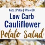 Cauliflower Potato Salad collage photo