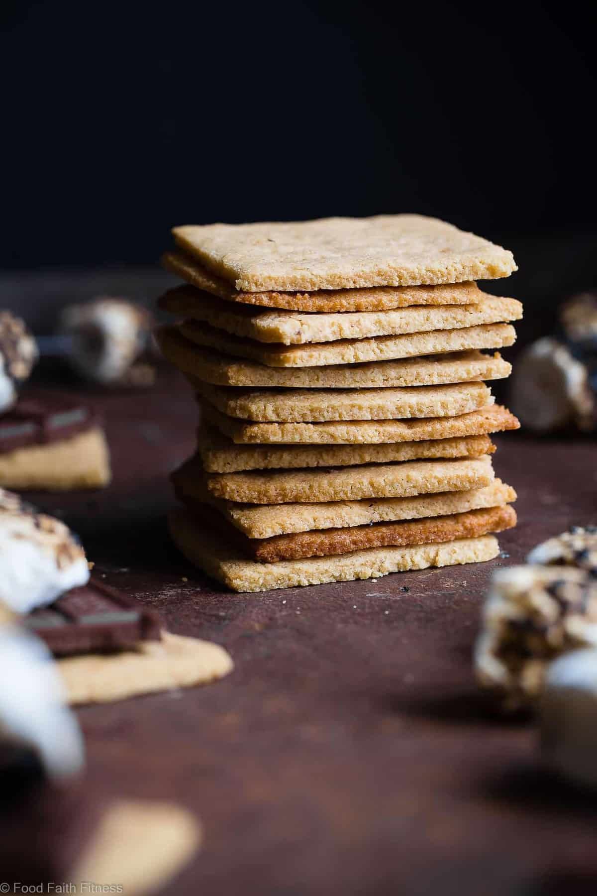Low Carb Gluten Free Graham Crackers with Almond Flour - These healthy, homemade keto graham crackers are SO much better than store bought that you'll never believe they are paleo friendly, sugar free and only 6 simple ingredients! | #Foodfaithfitness | #Keto #LowCarb #Glutenfree #paleo #Healthy